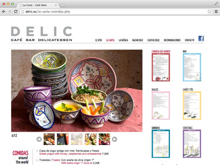 Café Delic - la carta - comidas
