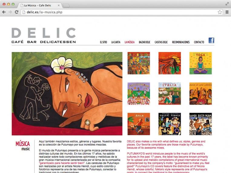 Café Delic - la música