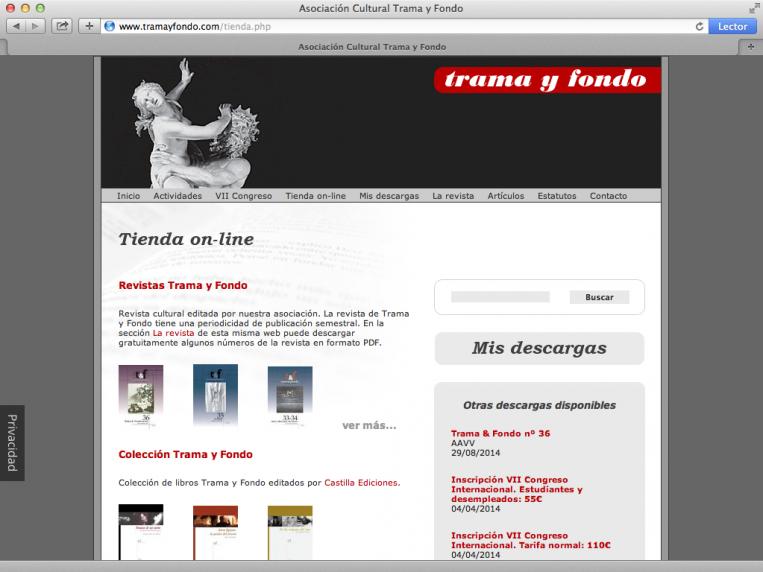 Trama y fondo - tienda on-line
