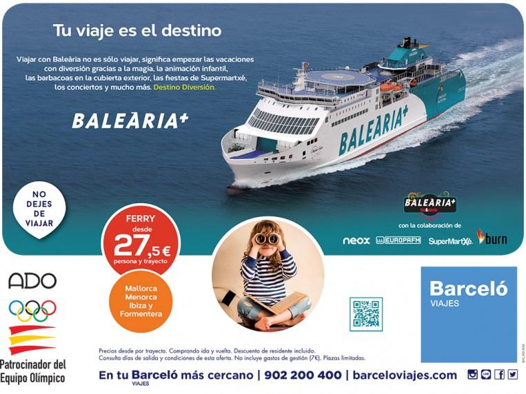 Publicidad Balearia a nivel regional