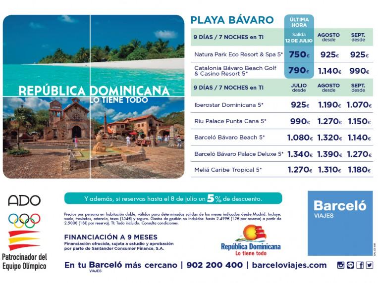 Publicidad para República Dominicana - Media página Diario de Navarra