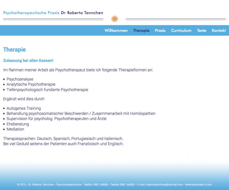 Psicólogo Roberto Tannchen