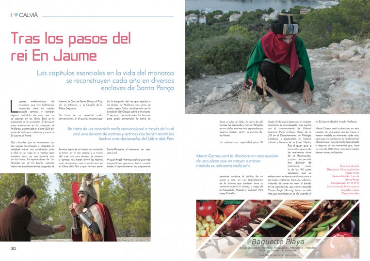 """Revista """"Especial rei En Jaume"""" Paginas"""